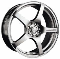 Литые диски Racing Wheels H-125 (BK-FP) 7x16 4x98  ET 35 Dia 58.6