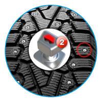 Гладкая поверхность шипа Pirelli Winter Ice Zero