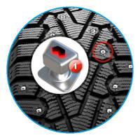 Шип с двойным сердечником Pirelli Winter Ice Zero